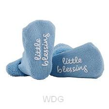 Baby socks little blessings blue