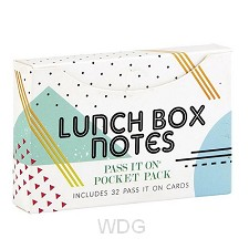 PIO pocket pack (32) Lunch Box Notes