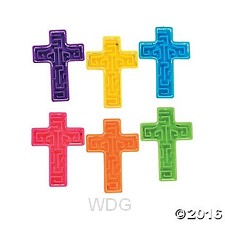 Cross shaped maze - Assorted colors