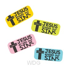 Jesus erases our sins - Assorted colors