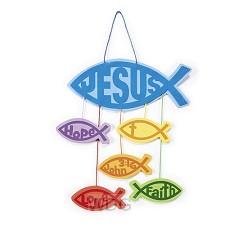 Craft kit Jesus/fish mobile set3