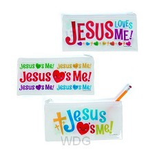 Pencil cases Jesus loves me set3