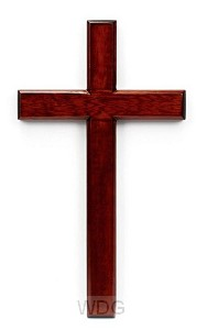 Kruis hang 30cm mahoniehout
