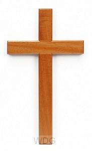 Kruis hang 20cm blank hout