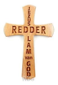 Kruis 30cm Jezus Redder Lam van God