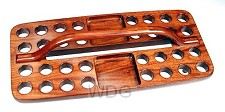 Avondmaal cup tray 32 cups hout 39x19cm