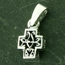 925 Silver Pendant Celtic Cross 13x8x4mm