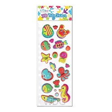 Puffy stickers sea creatures set3