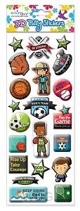 Puffy stickers sports set3