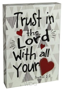 Chunky box trust in the Lord