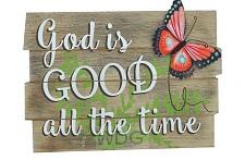 Wood plaque God is good