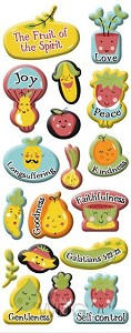 Puffy stickers fruit of the spirit set3