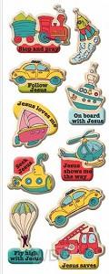 Puffy stickers vehicle set3