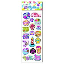 Puffy stickers mixed icons set3