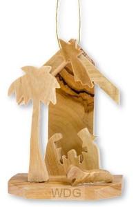 Kribbe olijfhout 7cm
