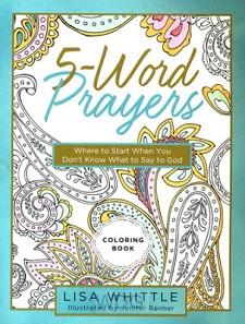 5 words prayer coloring book