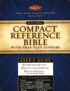 Compact Reference Bible With Snap-Flap C