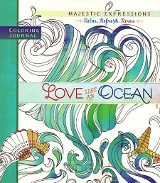 Coloring journal love like a ocean