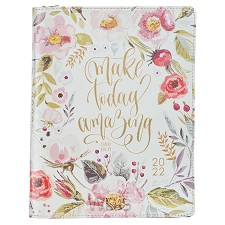 2022 Make Today Amazing Floral Faux Leat
