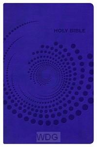 Deluxe gift bible NKJV purple imit. leat