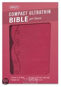 Compact Ultrathin Bible Teens -Fuchsia