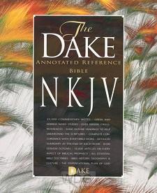 Dake Annotated Ref Bible - Black