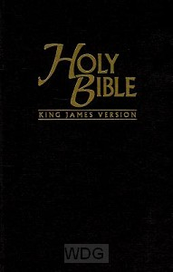 Pew bible KJV black hardcover