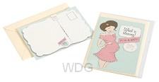 Ansichtkaart met env Zwanger