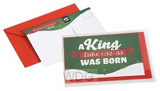 Ansichtkaart met env Kerst Luke