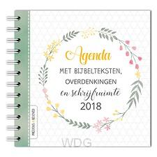 Agenda 2018 met bijbelteksten overdenki