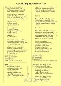 Opwekking tekstaanv 33 (699-710)
