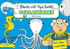 Kleuren met opa knoest oceaan dieren