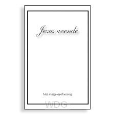 Wenskaartenboekje blanco Jezus weende