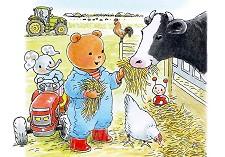 Ansichtkaart 15x10,5 bobbi met koe