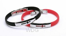 Armbanden rubber kruis set4