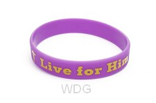 Armband live for Him paars