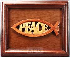 Lijst 18x22cm vis peace hout