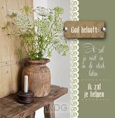 Wenskaart God belooft: Ik zal je helpen