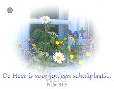 Kadokaartje psalm 91:9