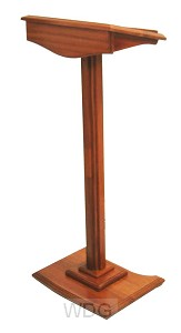 Lezenaar op voet hout 116cm h blad 45x33