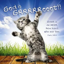 Kaart m env God is groot