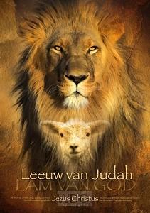 Poster A3 leeuw van judah