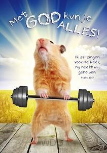 Poster A3 met God kun je alles