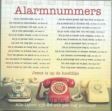 Kaart alarmnummers