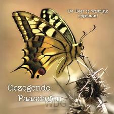 Kaart gezegende Paasdagen vlinder