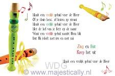 Kinderkaart maak een vrolijk geluid