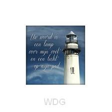 Kaart Uw woord is een lamp voor mij voe