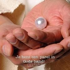 Kaart je bent een parel in Gods hand