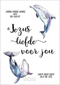 Kaart Dolfijn Jezus liefde voor jou