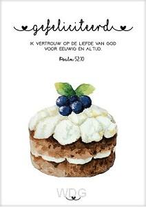 Kaart gefeliciteerd psalm 52:10